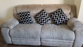Three seater and two seater sofa with recliners