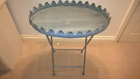 Shabby Chic Folding Metal Table