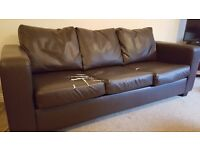 3 seater leather couch FREE - COLLECTION ONLY