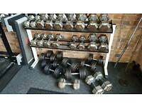 Dumbbells set and rack