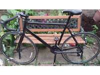 Glossy Black Racing bike gents 58cm cheap quick sale not specialized fixie giant trek