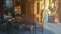 table and chairs for sale.