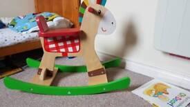 Elc wooden rocking horse