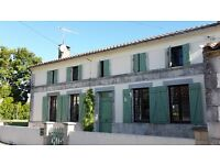 Farmhouse with 3 acres in idyllic, tranqil location with 2 gites in Charente Maritime, SW France