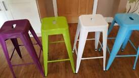 4 metal Tolix stools for sale