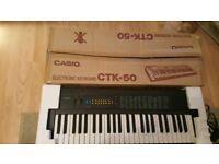 Boxed Casio CTK-50 Musical Portable Keyboard 100 Tones 100 Rhythms 49 Keys
