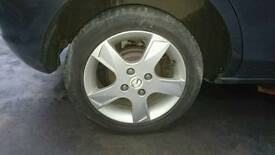 Mazda 4 stud alloys wheels and tyres