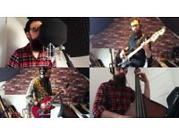 Session singer and musician (guitar, bass, double bass) available
