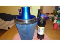 Large cone air filter was on ford sierra but will fit most cars,comes with all fittings etc