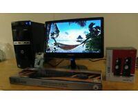 HP 500 Home & Business PC Desktop Computer & Samsung 20 LCD Widescreen
