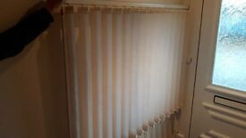 FREE! Vertical blind 131.5cm wide x 98cm high