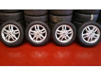 Renault Genuine 15 alloy wheels + 4 x tyres 185 60 15 Michelin