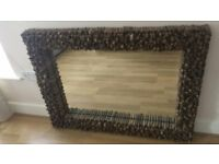 Real wooden framed handcrafted mirror