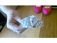 blue hair slide heart tiara