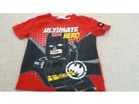 boys Lego Batman t.shirt age 5-6 years