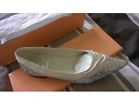 womens pointed silver shoes
