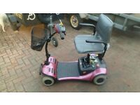 PINK car boot mobility scooter
