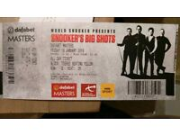 Dafabet Masters Snooker Ticket Ronnie O'Sullivan