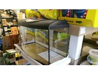 Fish tank 112 liters 80x35x40h cm with lighting hood brand new