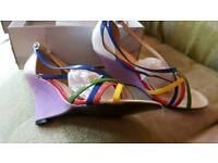 Ladies wedge sandals size 6