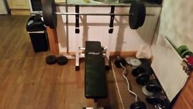 Bench and weights