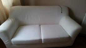 Cream 2/3 Seater Sofa Good Condition