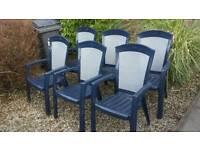 6 Jardin garden chairs