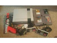 NES console & games
