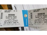 against the current tickets x2