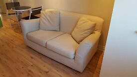 2 Beautiful 2 seater fabric sofas in good condition