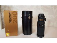 Nikon Micro-Nikkor AF 200mm f/4 D IF ED Macro Lens