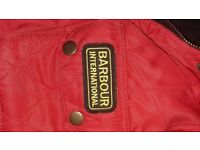 LADIES RED BARBOUR JACKET SIZE 10