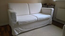 Two-seater White Ikea Sofa Comfy & Compact Ikea, in Great Condition