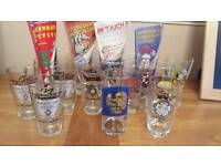 Oakwood beer festival glasses from 2000 to 2015 some with programs