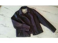 M&S Ladies faux leather jacket