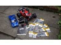 FOR SALE HPI HELLFIRE 1/8 NITRO RC 4WD TRUGGY WITH SPARES LOOK FAST CHEAP BARGAIN