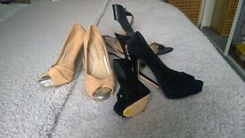 3 Pairs of ladies shoes size 5. One Pair never been worn!