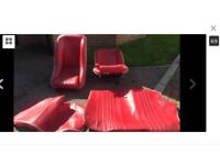 Classic mini bucket seats with rear seat covers