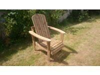 Garden chairs seat Adirondack chair bench garden summer furniture set Loughview Joinery