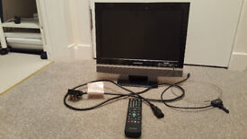 Grundig 15 inch TV, Freeview enabled with remote control