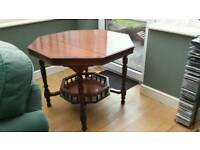 Mahogany octagonal galleried table