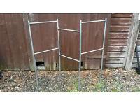 Freestanding Metal Towel Rail