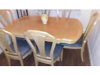 Extending Dining Table Set With 6 Chairs