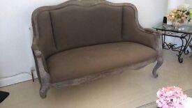 Bespoke linen type sofa