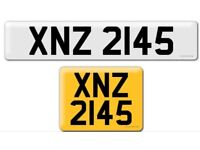 XNZ 2145 private Cherished personal personalised registration plate number