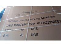 Mightymast Full Size Table Tennis Table Conversion Kit.