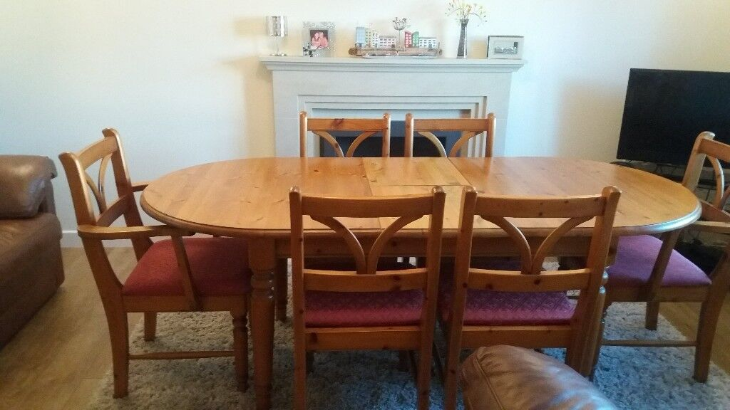 Phenomenal Antique Pine Dining Table 6 Chairs In Gorseinon Swansea Gumtree Machost Co Dining Chair Design Ideas Machostcouk