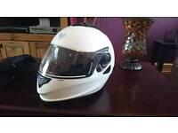 White motorcycle helmet FRANK THOMAS size S