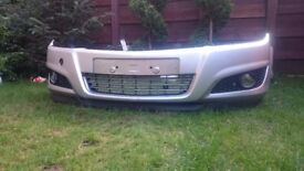 Bumper for Vauxhall Astra H silver
