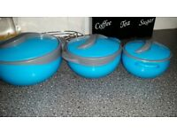 Thermo warming food containers x 3